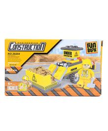 Fun Blox Construction Truck Blocks Set Yellow - 60 Pieces