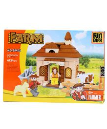 Fun Blox Farm Block Set Multicolor - 168 Pieces