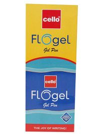 Cello Flo Gel Pen Blue - Set Of 10
