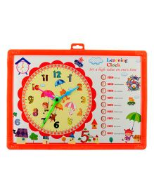 iCuddle White Board And Clock Tray Learning Educational Toy Game - Red