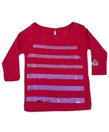 Kuddle Kids Shimmery Sequin Tshirt  -  Pink