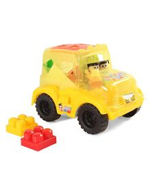 Smart PicksTruck Blocks Set Yellow - 18 Pieces