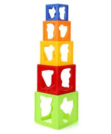 Smart Picks Stack Cube Stacking Set Multicolor - Pack of 5