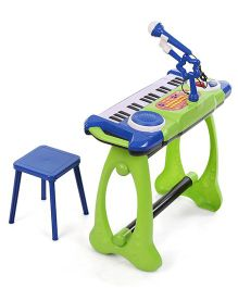 Simba My Music World Stand Keyboard - Green And Blue