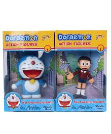 Doraemon and Nobita Action Figurine 2 in 1 Pack - 9 cm