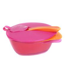 Tommee Tippee Explora Easy Scoop Feeding Bowl Pink And Red - Pack of 2