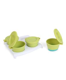 Tommee Tippee Explora Pop Up Freezer Pots With Tray Green - Pack Of 4