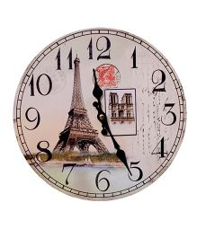 Home Union Designer Vintage Paris Wall Clock - Beige