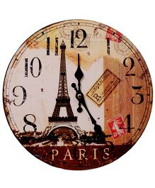 Home Union Designer Vintage Wall Clock - Beige
