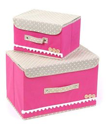 Home Union Set Of 2 Foldable Storage Boxes - Pink