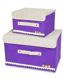 Home Union Set Of 2 Foldable Storage Boxes - Purple