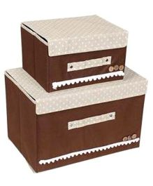 Home Union Set Of 2 Foldable Storage Boxes - Brown