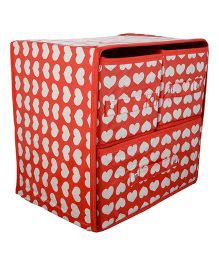 Home Union Foldable Storage Box With 3 Drawers - Red