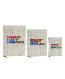 Tiara Diaries Designer Lakarta Creativity Identity Inspiration Notebook - Set Of 3