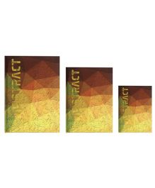 Tiara Diaries Abstract Designer Lakarta Notebook - Set Of 3