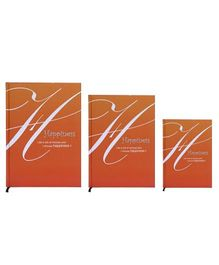 Tiara Diaries Happiness New Designer Lakarta Notebook Orange - Set Of 3