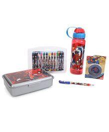 Spider Man School Kit Multi Color - Pack of 5