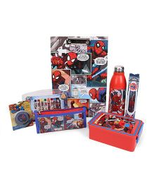 Spider Man School Kit Red - Pack Of 7
