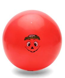 Baby Ball With Cartoon Face Print - Red