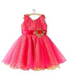BunChi Rosy Princess Dress - Pink