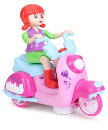 Smiles Creation Musical Bump And Go Scooter Toy - Pink & Red