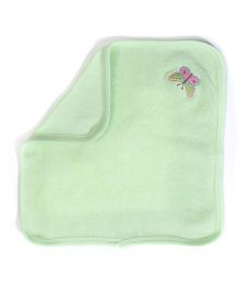 Child World Napkin Butterfly Embroidery - Green