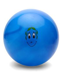 Baby Ball With Cartoon Face Print - Blue