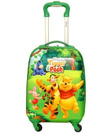 Winnie the Pooh and Tigger Printed Trolly Bag Green - 16 Inches