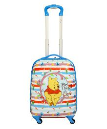 Winnie the Pooh Printed Trolly Bag Blue - 18 Inches