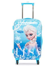 Disney Frozen Trolley Bag Elsa Print Blue - 20 Inches
