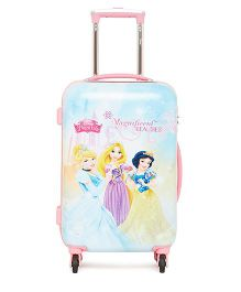Disney Princess Trolley Bag Magnificent Beauties Print Blue - 20 Inches