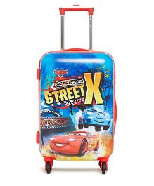 Disney Pixar Cars Trolley Bag Street X Print Blue - 20 Inches
