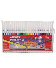 Luxor Sketch O Matic Water Color Pens Set of 24 - Length 15 cm