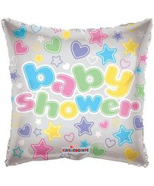 Party In A Box Kaleidoscope Baby Shower Hearts And Stars Print Balloon - Multicolor