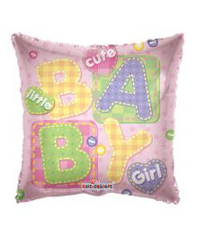 Party In A Box Kaleidoscope Baby Girl Big Letters Balloon - Pink
