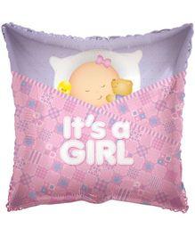 Party In A Box Kaleidoscope Baby Girl Sleeping Balloon - Pink