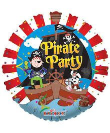 Party In A Box Kaleidoscope Pirate Party Balloon - Multicolor