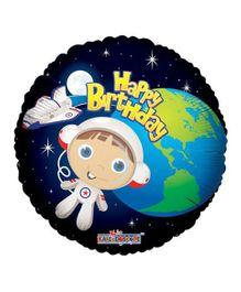 Party In A Box Kaleidoscope Birthday Astronaut Boy Balloon - Multicolor