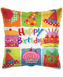 Party In A Box Kaleidoscope Birthday Festive Element Balloon- Multicolor