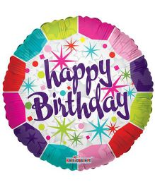 Party In A Box Kaleidoscope Happy Birthday Fresh Prismatic Balloon - Multicolor