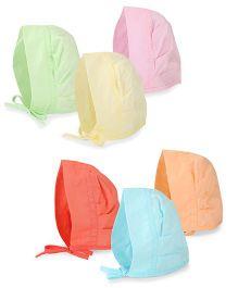 Chocopie Bonnet Caps Multicolour - Pack of 6