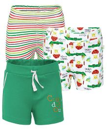 FS Mini Klub Shorts Pack of 3 - Green White