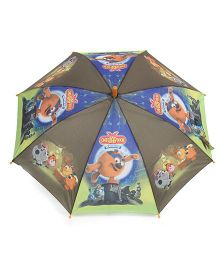 Pit-a-Pat Umbrella Cartoon Print Orange And Green - 19 inches