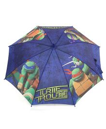 Pit-a-Pat Umbrella Ninja Turtles Print Blue - 19 inches