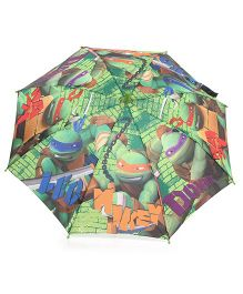 Pit-a-Pat Kids Umbrella Ninja Turtle Print - 19 inches