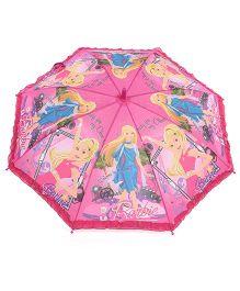 Pit-a-Pat Kids Umbrella Barbie Print Pink - 19 inches