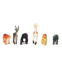 Smiles Creation Wild Animals Figurines Multicolor - Set of 6