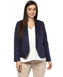 Mamacouture Polka Dots Maternity Day Jacket - Blue