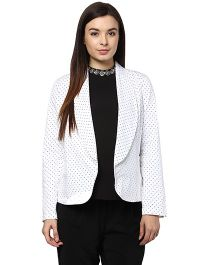 Mamacouture Polka Dots Maternity Day Jacket - Black & White