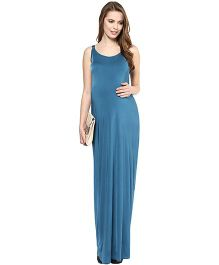 Mamacouture Maternity Maxi -  Teal Blue